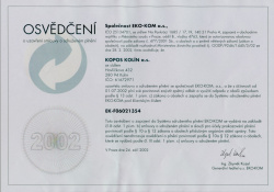 Certificate of packaging