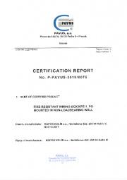 Certification report