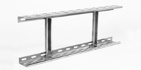 Extension of cable ladders made of stainless steel