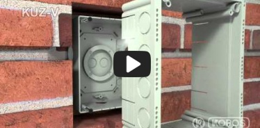 Embedded thumbnail for უნივერსალური KUZ-V ყუთის მონტაჟის ინსტრუქცია
